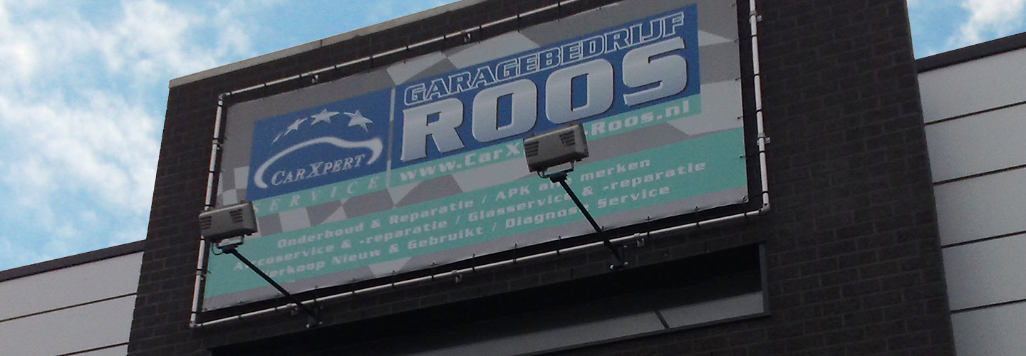 Gevelbelettering carXpert Roos